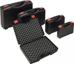 Kunststoffkoffer PP schwarz 340 x 275 x 83 mm m. Schaumstoffeinlage