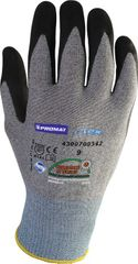 12x Handschuhe Gr. 10 Hit Nylonstrickhandschuh m. Nitril besch. schwarz ohne Noppen