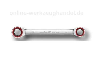 CAROLUS GEDORE Doppel-Ringratschenschlüssel 8x9 mm, gerade Form 1730.0809