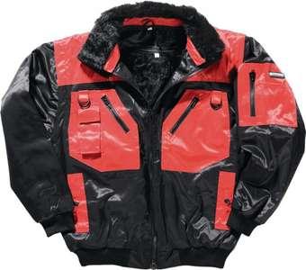 Pilotenjacke Gr.M schwarz/rot Beaver-Nylon 4in1 Promat Safeline