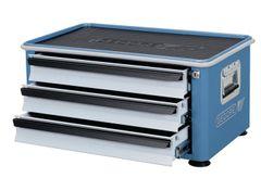 GEDORE Werkzeugtruhe 3Schubladen Aufsatztruhe GEDORIT blau/Schubladen silber  6618130