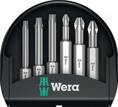 WERA Bit Sortiment Mini-Check PH PZ TX 50 mm 6tlg.Bits 50mm lang PH PZD Torx in Kunststoffbox  5056473001