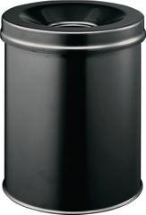 Standascher D.260xH357 Stahlb.15l schwarz m.Flammlöschkopf,selbstl.TÜV/GS-gepr. 3305-01