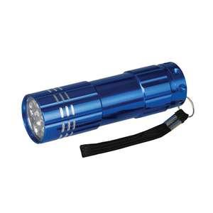 Silverline Aluminium-LED-Taschenlampe 9 LEDs