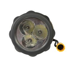 Silverline LED-Taschenlampe mit Gummikörper 3 Stck. D-Batterien