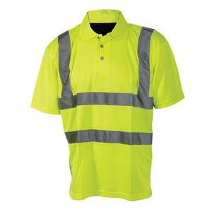 Silverline Warnschutz-Polohemd, Klasse 2 Größe: L (100-108 cm)