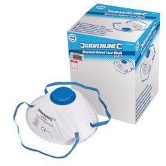 Silverline FFP-2-NR-Atemschutzmaske mit Ventil, geformt, Verkaufsdisplay, 10er-Pack. FFP-2-NR