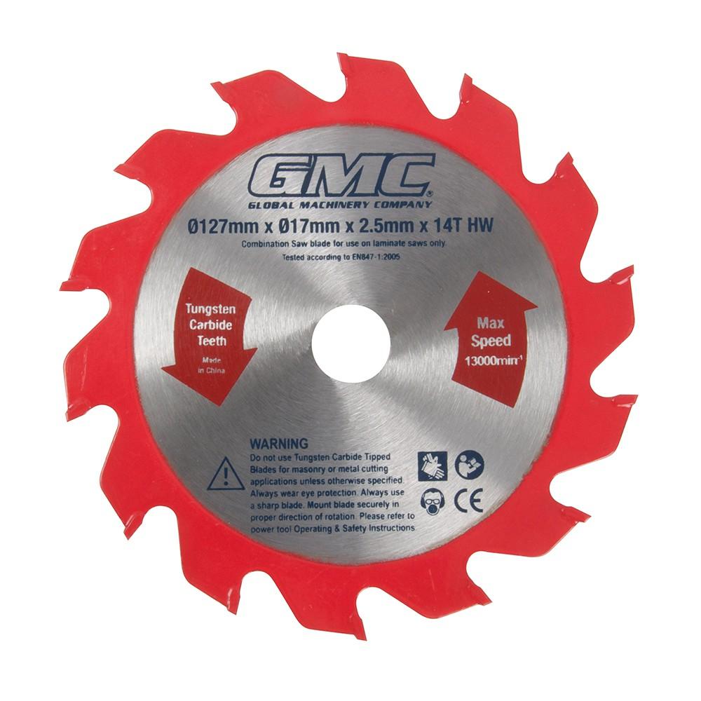 gmc sägeblatt für laminatsäge 127 x 17 x 2,2 mm, 14 zähne