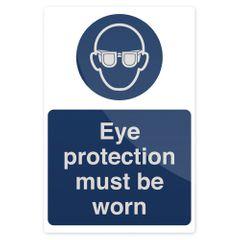 """FIXMAN Gebotsschild """"Schutzbrille tragen!"""" 200 x 300 mm, fest 893068"""