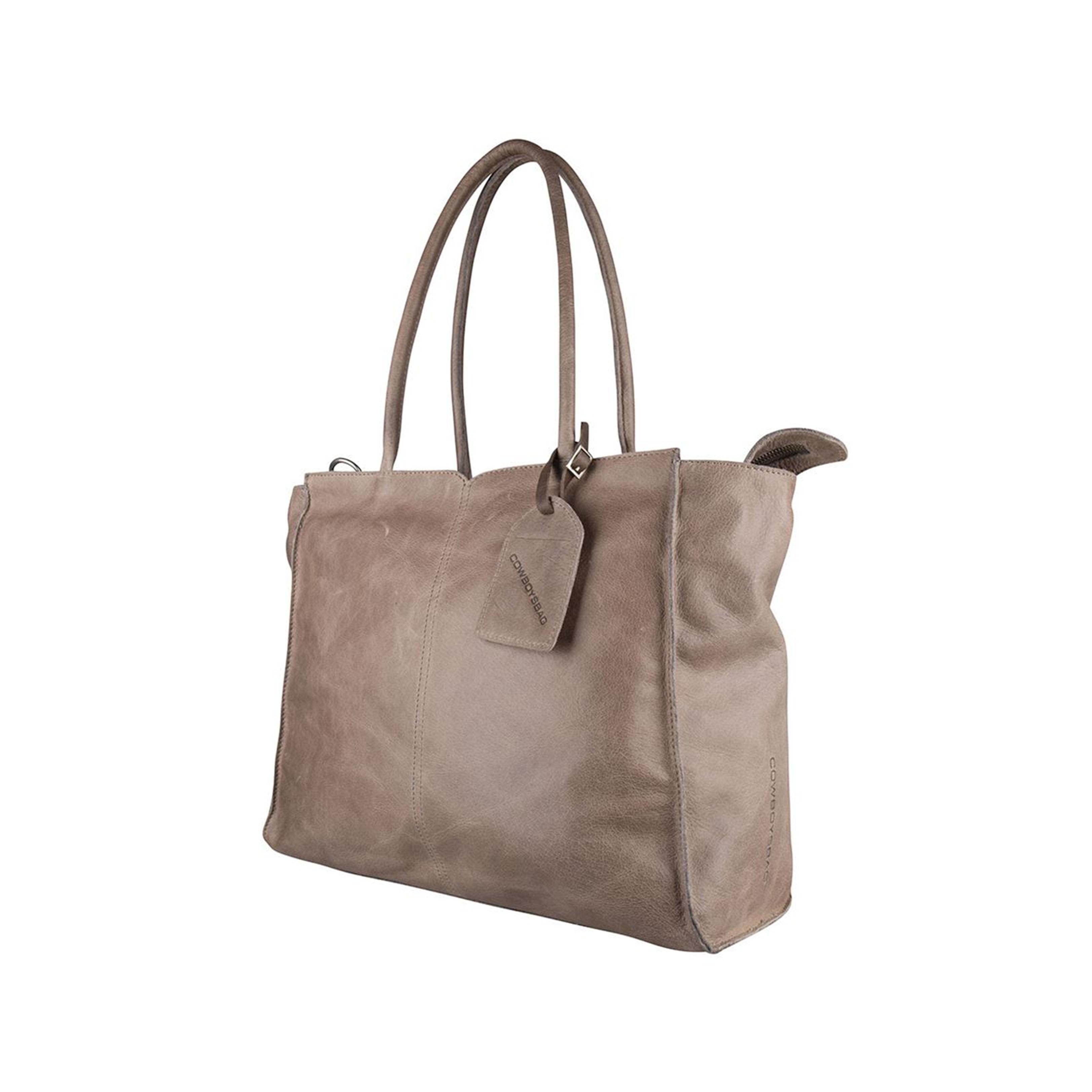 super popular 7db5b 99fa1 COWBOYSBAG Damen Leder Tasche Laptoptasche Laptop Bag Reno 15.6 Inch  Elephantgrey Grau 2197