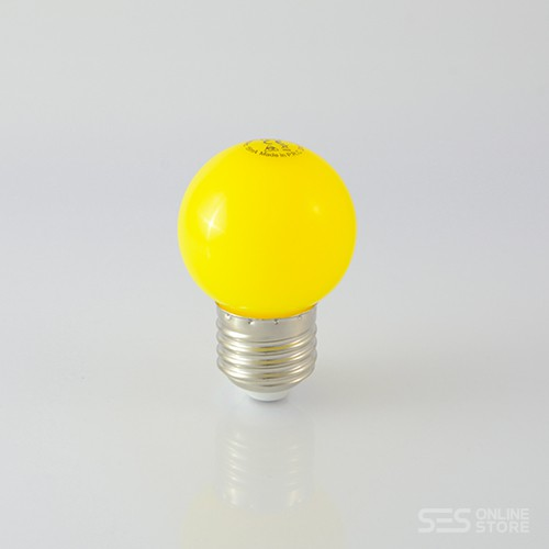 LED Ball Lamp E27 1W Gelb 12lm