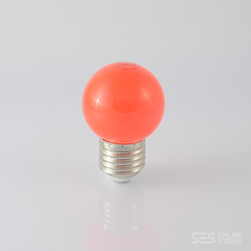 LED Ball Lamp E27 1W Rot 12lm  – Bild 1