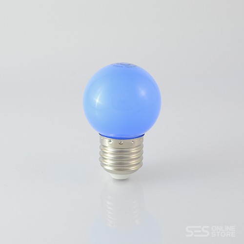 LED Ball Lamp G45 E27 1W Blau 12lm