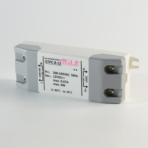 LED Vorschaltgerät Konstantspannung GLP GPTC 12V 8W 670mA ohne Dimmfunktion