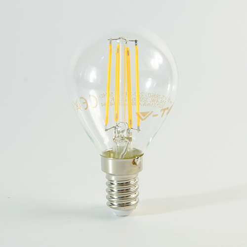 LED Birne Filament E14 G45 4W dimmbar Warmweiss 320lm 300°