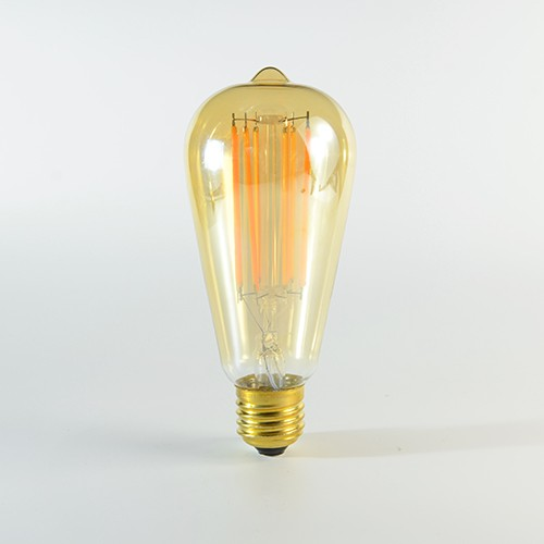 LED Birne Filament Rustikal Gold E27 4W dimmbar Warmweiss 2100K 320lm 300°