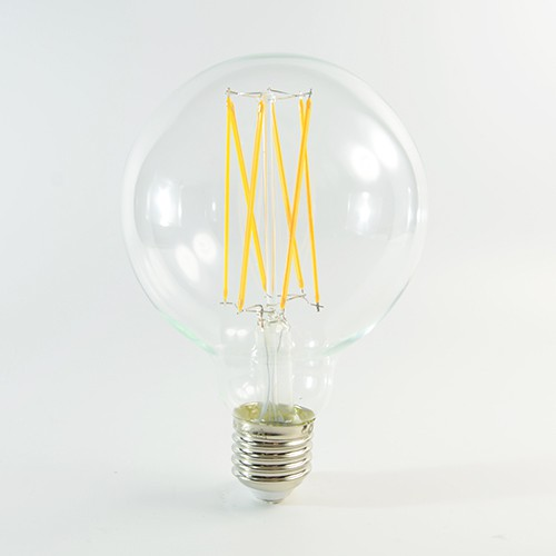 LED Birne Filament E27 G95 4W dimmbar Warmweiss 2300K 350lm 300°