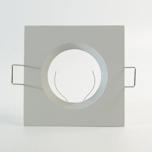 LED Einbauspot Gehäuse eckig für GU10 & GU5.3 in Aluminium weiss