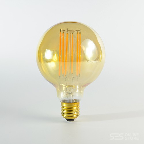 LED Birne Filament Rustikal Gold E27 G95 4W dimmbar Warmweiss 2100K 320lm 300°