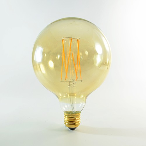 LED Birne Filament Rustikal Gold E27 G125 4W dimmbar Warmweiss 2100K 320lm 300°