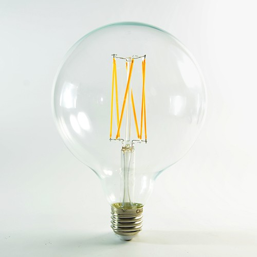 LED Birne Filament E27 G125 4W dimmbar Warmweiss 2300K 350lm 300°
