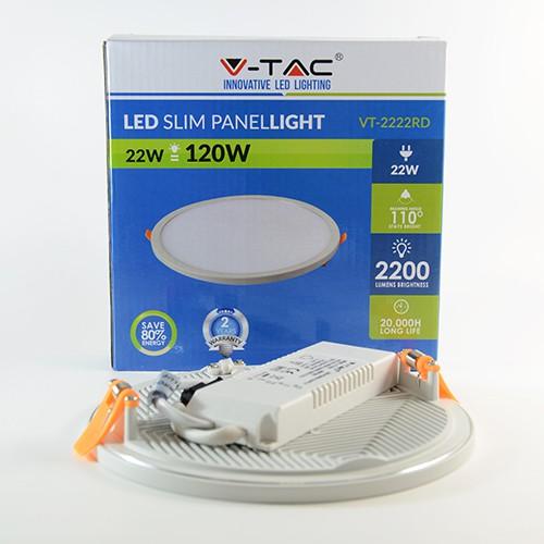 LED Panel slim Ø170mm 22W Warmweiss 2'200lm 110° mit Vorschaltgerät IP20