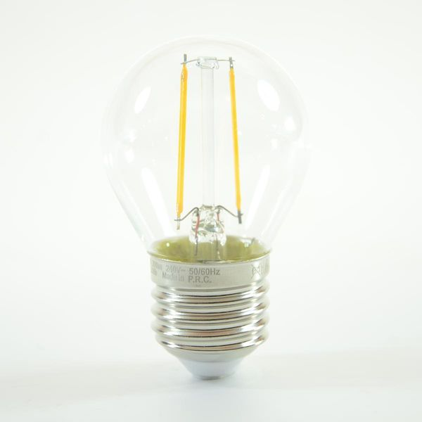 LED Birne Filament Ball Lamp E27 G45 2W Warmweiss 200lm 300°