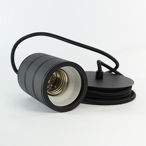 Retro Pendant XXL E40 Schnurset schwarz