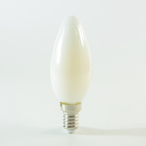 LED Kerze Filament E14 4W Warmweiss 350lm 300° satiniert