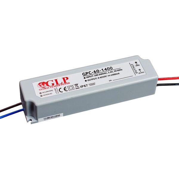 LED Vorschaltgerät Konstantstrom GLP 9-42V 60W 1400mA IP67 ohne Dimmfunktion