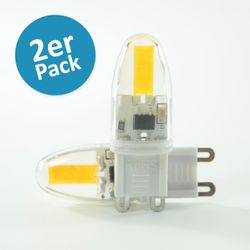 LED Pin G9 1.6W dimmbar Warmweiss 180lm 270° im Doppelpack