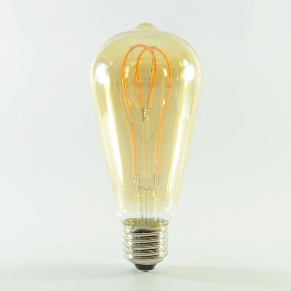 LED Birne Filament Herz Rustikal Gold E27 ST64 5W Warmweiss 300lm 300°