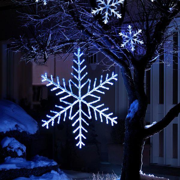LED Acryl Schneeflocke 40cm mit 24 kaltweissen Dioden - Aussenbetrieb
