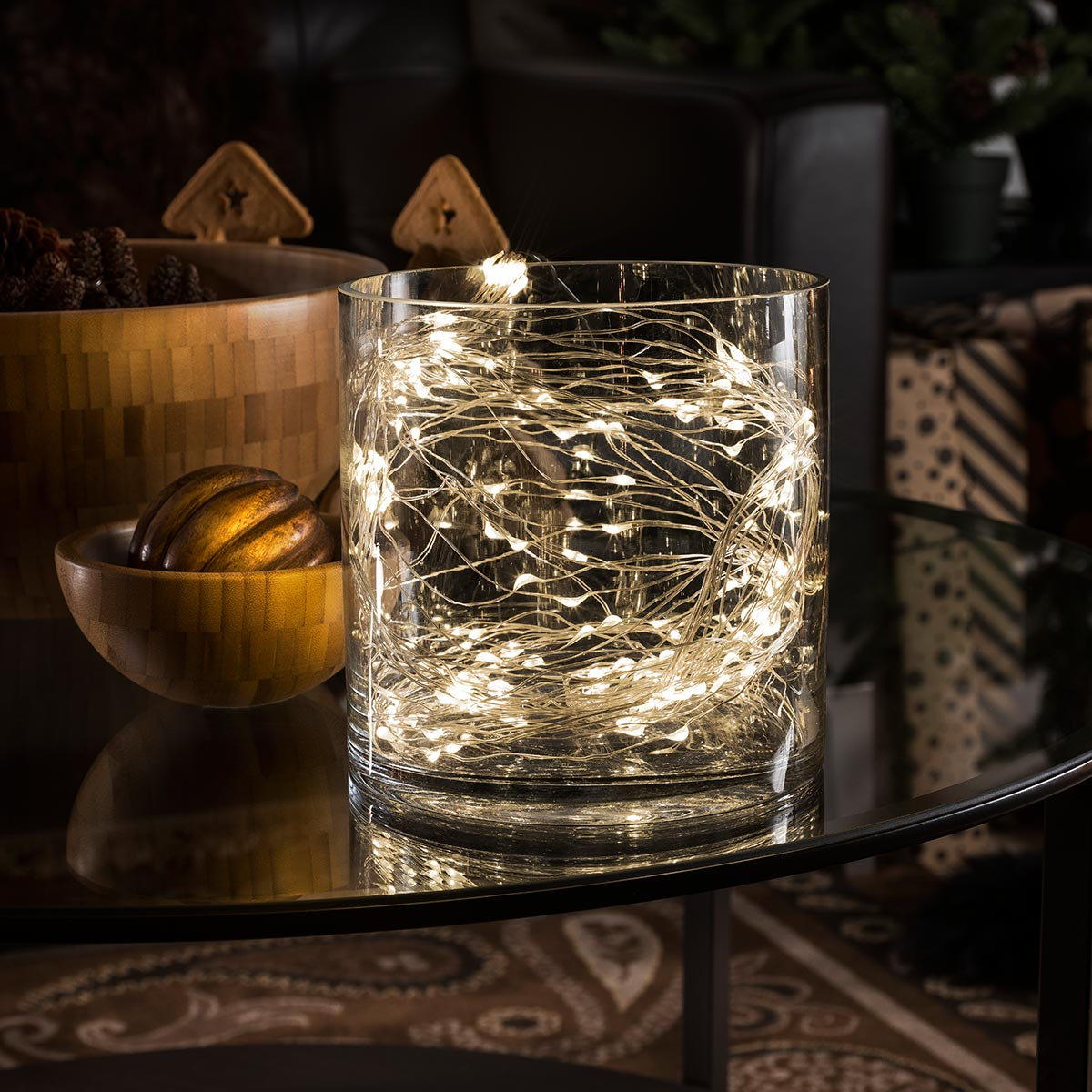 led tropfenlametta 10 str nge 2m 20 warmweissen dioden. Black Bedroom Furniture Sets. Home Design Ideas