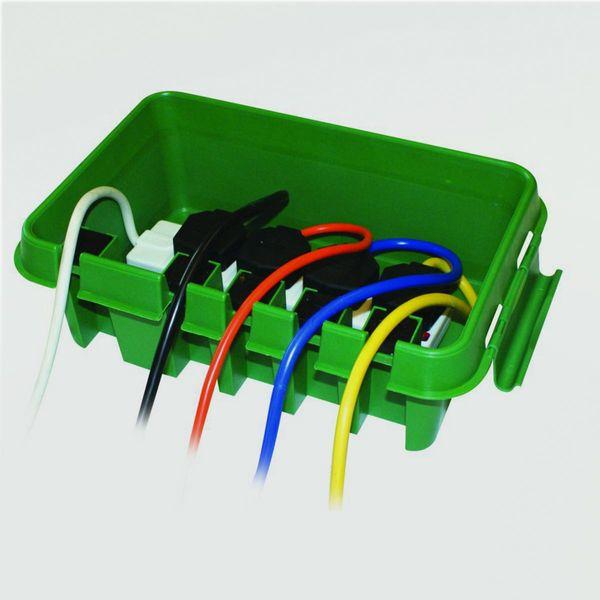 DRI BOX Garten-Kabelbox mittel 280mm grün IP55