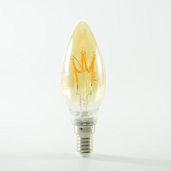 LED Kerze Filament Vintage Gold E14 3W dimmbar Warmweiss 135lm 360°