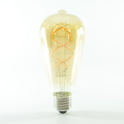 LED Birne Filament Vintage Gold E27 ST64 4W dimmbar Warmweiss 180lm 360°