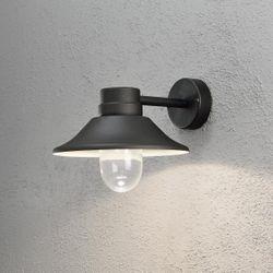 LED Wandleuchte Vega Alu 8W 700lm dimmbar Warmweiss schwarz IP54