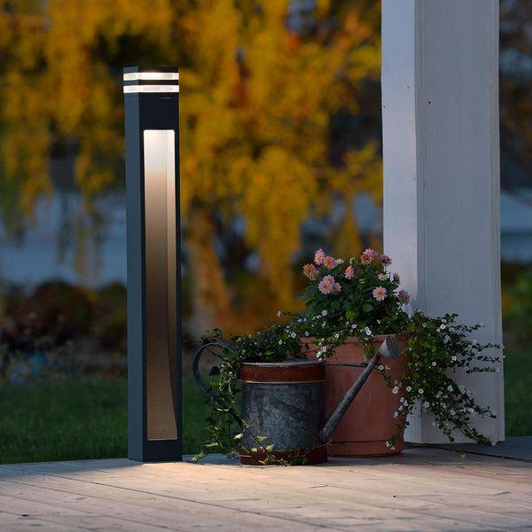 LED Wegleuchte Massa Alu Warmweiss 7W 500lm anthrazit IP54