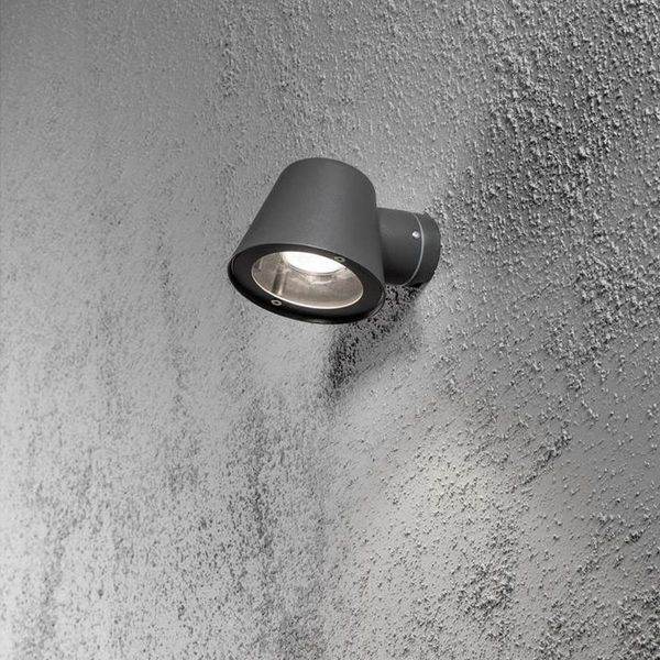 LED Wandleuchte Trieste Alu GU10 schwarz IP44