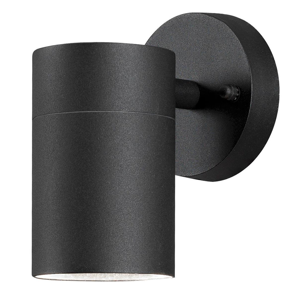 led wandleuchte modena alu gu10 schwarz ip44. Black Bedroom Furniture Sets. Home Design Ideas