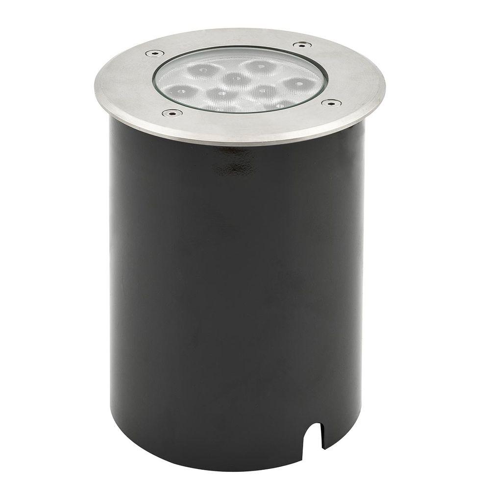 LED Bodenspot Alu Ø145mm Warmweiss IP65 9W 720lm 220V