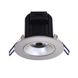 SES LED Einbauspot COMO-R Schwenkbar Silber Ø86 7W 600 Lumen 3000K
