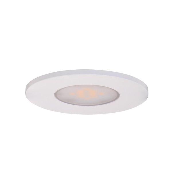 SES LED Einbauspot NERO Kompakt Weiss Ø85 7.5W 345 Lumen IP65