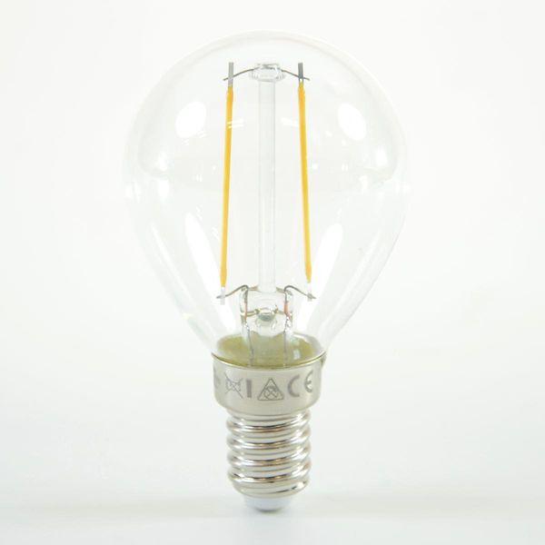 LED Birne Filament Ball Lamp E14 G45 2W Warmweiss 200lm 300°