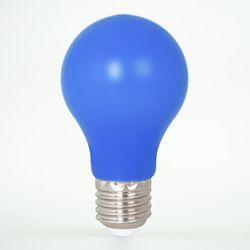 LED Birne aus Kunststoff E27 A60 1W Blau 12lm