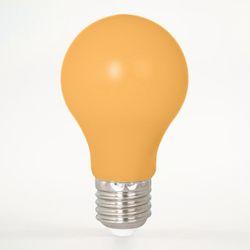 LED Birne aus Kunststoff E27 A60 1W Orange 12lm