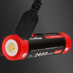 Klarus USB Lithium-Ionen Akku 18650 2600mAh UR26 9.36Wh