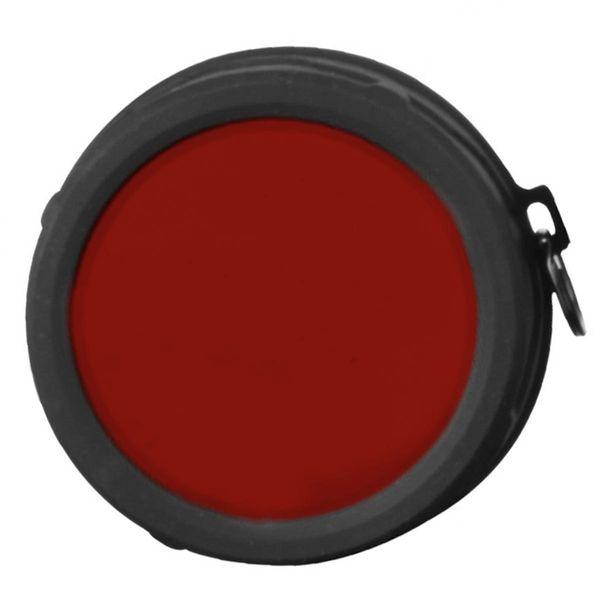Klarus Farbfilter Rot mit Silikon-Rahmen für die LED Taschenlampe Klarus XT30