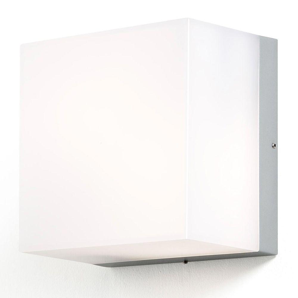 LED Wand- und Deckenleuchte Sanremo 2 x GX53 aus Aluminium und opales Glas 210x210mm IP54